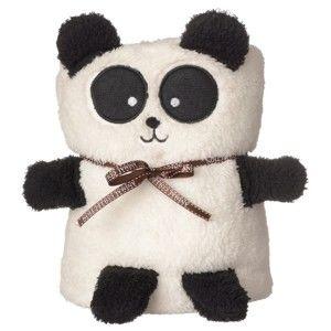 Černo-bílá deka s motivem pandy Le Studio Panda