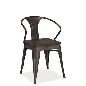 Černá ocelová židle Signal Alvaco