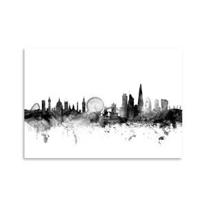 Plakát Americanflat London Britain Skyline, 42 x 30 cm