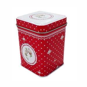 Červená plechová krabička HOME ELEMENTS De Campagne
