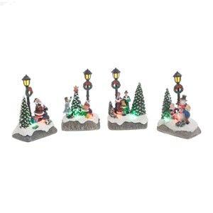 Sada 4 vánočních světelných dekorací InArt Irina