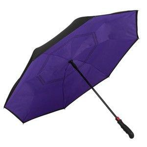 Tmavě fialový golfový deštník Von Lilienfeld Remy FlicFlac, ø 110 cm