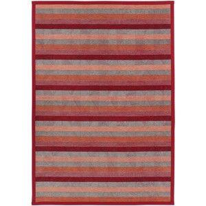 Červený oboustranný koberec Narma Treski Red, 100 x 160 cm