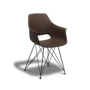 Tmavě hnědá jídelní židle s nohami z bukového dřeva Furnhouse Elvis