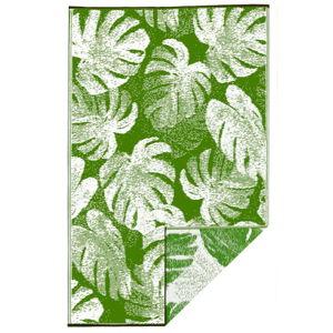 Zelený oboustranný venkovní koberec z recyklovaného plastu Fab Hab Panama Green, 120 x 180 cm
