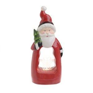 Vánoční keramická světelná dekorace ve tvaru Santy InArt Marie