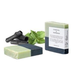 Přírodní mýdlo s aktivním uhlím a vůní máty HF Living