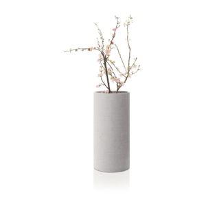 Světle šedá váza Blomus Bouquet,výška29cm