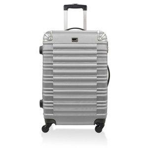 Cestovní kufr ve stříbrné barvě na kolečkách BlueStar Lima,60l