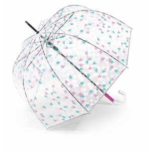 Transparentní holový deštník Ambiance Birdcage Geometric, ⌀88cm