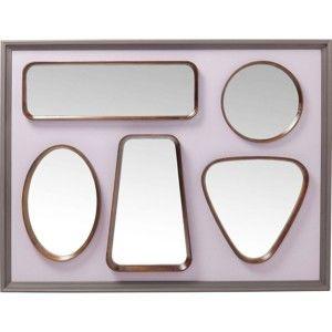 Nástěnné zrcadlo Kare Design Art Shapes, 109x78cm