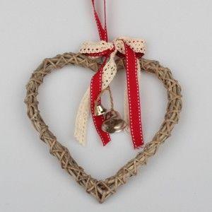 Ratanové závěsné srdce Dakls Bell, výška 20 cm
