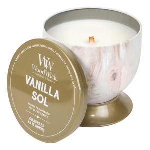 Vonná svíčka WoodWick Božská vanilka, doba hoření 60 hodin
