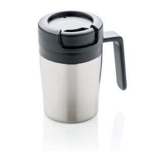 Termohrnek s ouškem ve stříbrné barvě XDDesign Coffee to Go, 160ml