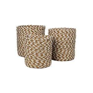 Sada 3 úložných košíků HSM collection Raffia Natural