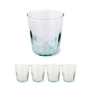 Sada 4 ks skleniček z recyklovaného skla Garden Trading, ø 8 cm
