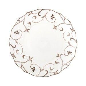 Talíř z kostního porcelánu Brandani Ricciolo Di Dama, ⌀27cm