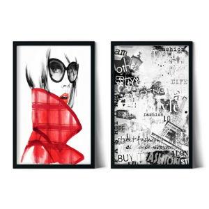 Sada 2 zarámovaných plakátů Insigne Fuling,70x110cm