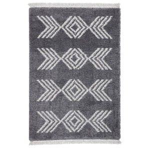 Šedý koberec Think Rugs Boho Charcoal, 160 x 230 cm