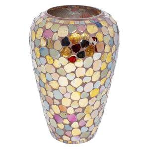 Skleněná barevná váza Kare Design Mosaic Pebbels, výška30cm
