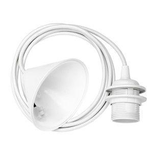 Bílý závěsný kabel ke svítidlům VITA Copenhagen Cord, délka210cm