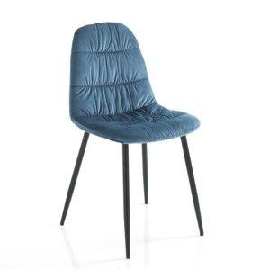 Sada 4 modrých jídelních židlí Tomasucci Fluffy