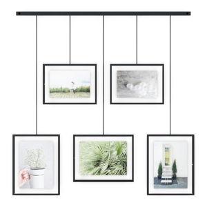 Sada 5 černých závěsných rámů na fotografie Umbra Exhibit