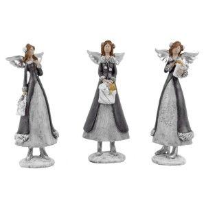 Sada 3 malých dekorativních andělíčků Ego Dekor Cosy