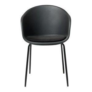 Černá jídelní židle Unique Furniture Topley