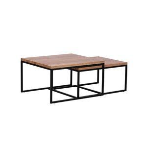 Sada konferenčních 2 stolků s deskou z dubového dřeva Windsor & Co Sofas Quadrat