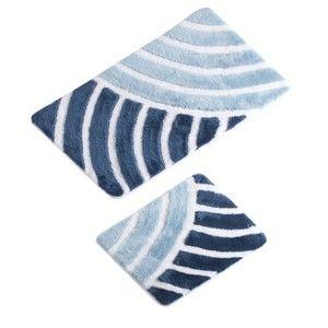 Sada 2 modrých koupelnových předložek Helen Bath Mat Lefo