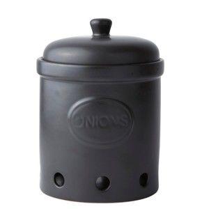 Černá skladovací dóza KJ Collection Onion