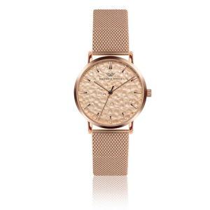 Dámské hodinky s páskem z nerezové oceli v růžovozlaté barvě Victoria Walls Lauren