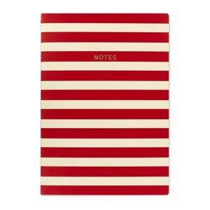 Červenobílý zápisník A4 GO StationeryStripe