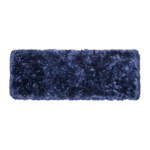 Tmavě modrý koberec z ovčí vlny Royal Dream Zealand Long, 70x190cm