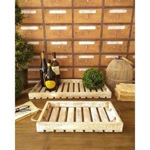 Sada 2 dřevěných podnosů Orchidea Milano Don Juan