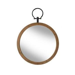 Zrcadlo s dřevěným rámem Red Cartel, ⌀ 40 cm