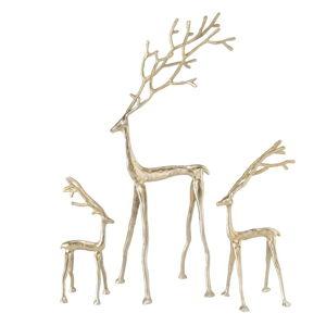 Sada 3 vánočních dekorací ve zlaté barvě Boltze Frody