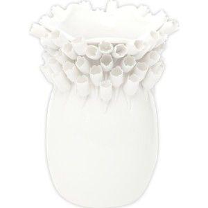 Bílá porcelánová váza Mauro Ferretti Tulip, výška 25 cm