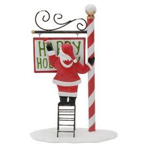 Vánoční dekorace ve tvaru Santy InArt Gina