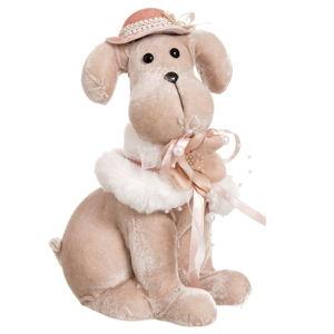Plyšový pes Unimasa Dog, výška24cm