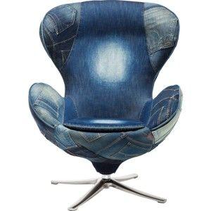 Modré křeslo Kare Design Jeans