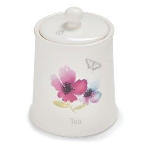 Kameninová dóza na čaj Cooksmart England Chatsworth Floral