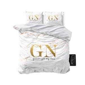 Bavlněné povlečení na dvoulůžko Sleeptime Good Night, 240 x 220 cm