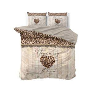 Bavlněné povlečení na dvoulůžko Sleeptime Home is Love, 240 x 220 cm