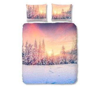 Bavlněné povlečení na dvoulůžko Muller Textiels Snow, 200x200 cm