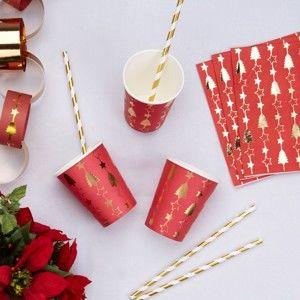 Sada 8 papírových kelímků Neviti Dazzling Christmas, 200 ml
