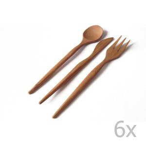 18dílná sada bambusových příborů Bambum Pierino