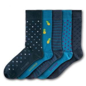Sada 5 párů unisex ponožek Black&Parker London Knoll Gardens, velikost 37 - 43