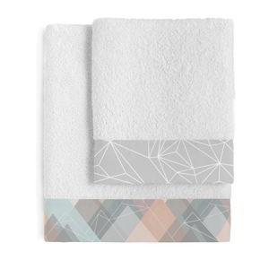 Sada 2 bavlněných ručníků Blanc Range